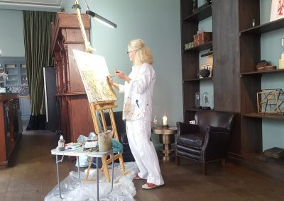 live-painting-promotie-diner-in-actie